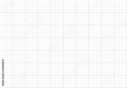 Vector Seamless Pattern, Graph Paper Background, Blank Page\