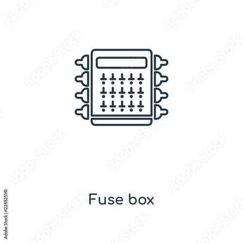 fuse box icon vector\