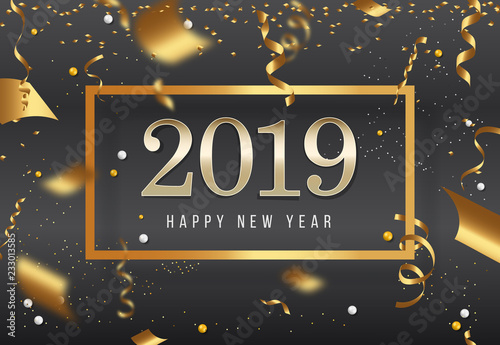 New Years 2019 Happy New Year greeting card 2019 Happy New Year