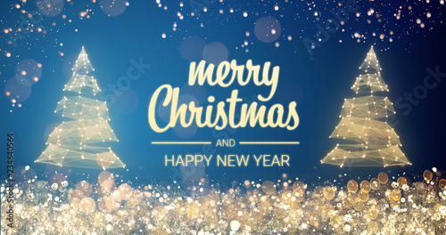 new year messages sparkling gold and silver lights xmas tree merry christmas and happy seasons greetings and happy