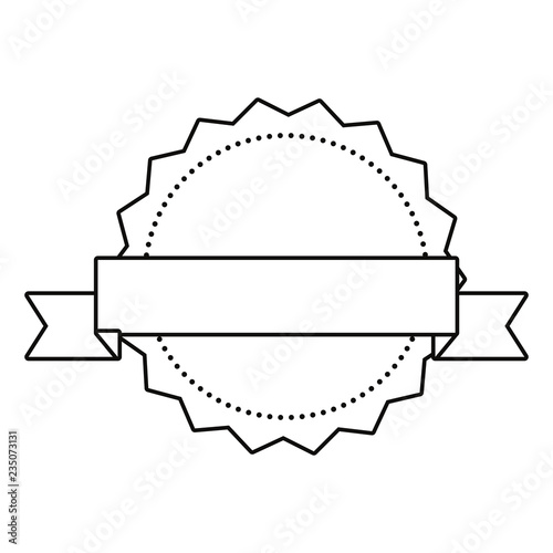 label ribbon banner blank template\
