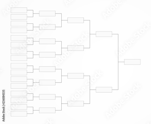 Tournament bracket template for a championship infographics\