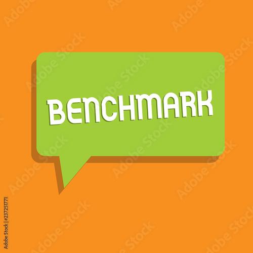 Conceptual hand writing showing Benchmark Business photo showcasing