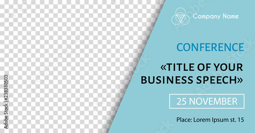 Corporate announcement banner template Vector flyer for business