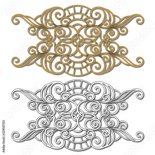 Vector Set of Design Elements for Page Decorations Border Design