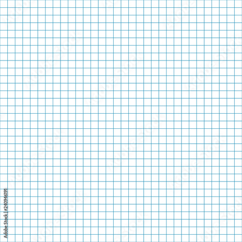Graph Paper Seamless Pattern - Blank grid or sheet of graph paper