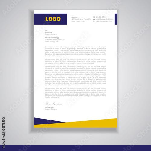 letterhead design template vector\