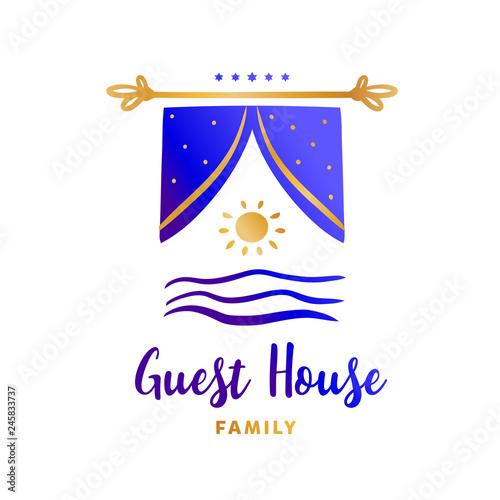 Template logo for family hotel resort Concept design company