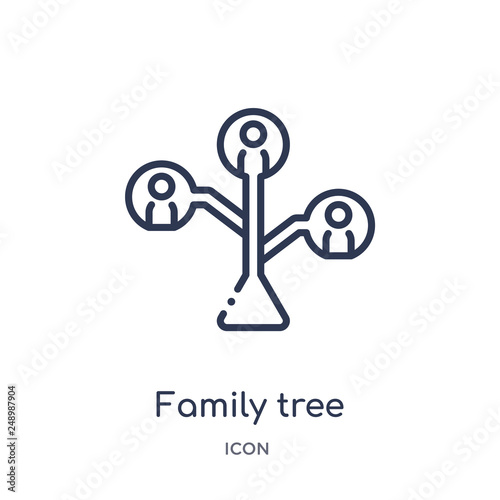 family tree icon from people outline collection Thin line family