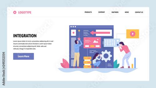 Vector web site gradient design template Software and website