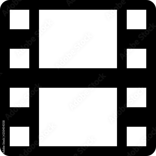 Film reel footage frame\