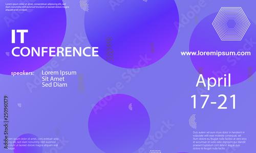 Conference announcement design template\