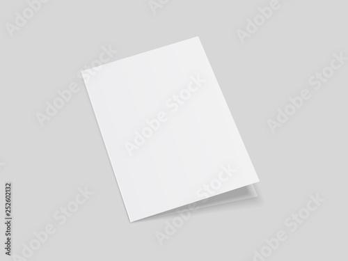 Mock up of brochure folding Closed notebook, magazine, booklet