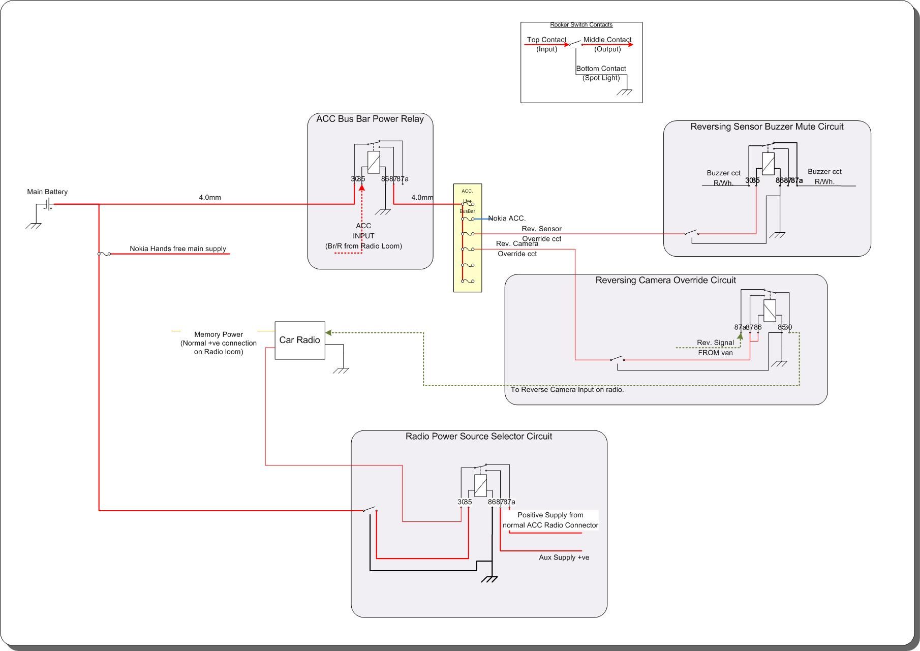 vw t5 reverse light wiring diagram