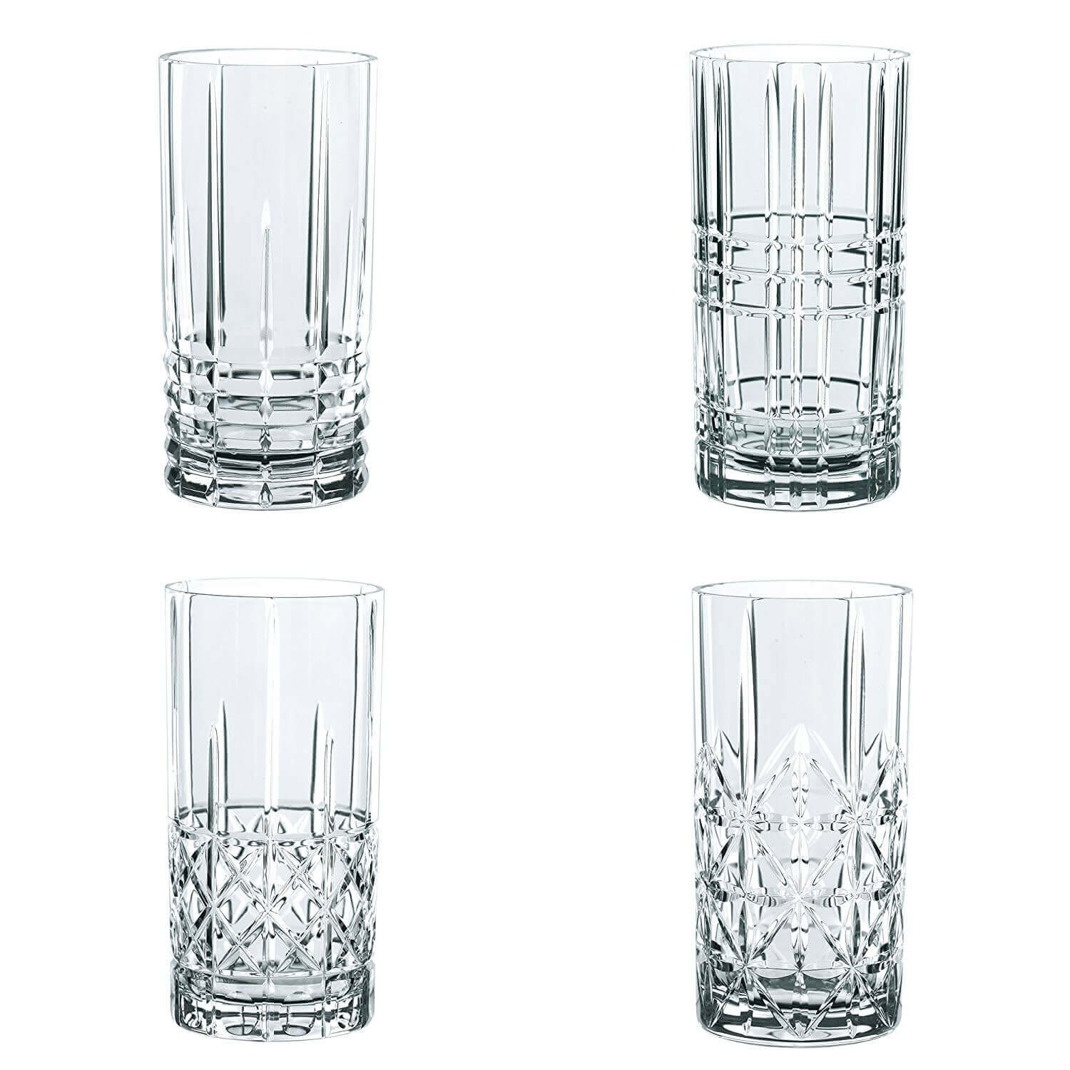 Bicchieri Long Drink Nachtmann Crystal Longdrink Tall Tumbler Set Of 4 Pieces