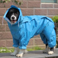 Large Dog Raincoat Clothes Waterproof Rain Jacket Jumpsuit ...