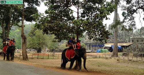 アンコールワットの象
