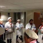 Briefing du matin avec les hospitalières du Rosaire
