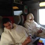 Le repos au retour dans le train...