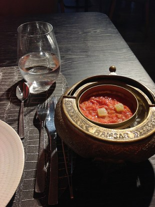 Toast with Roseta spread tomato