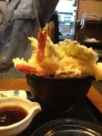 加賀野菜天丼! donburi de tempura