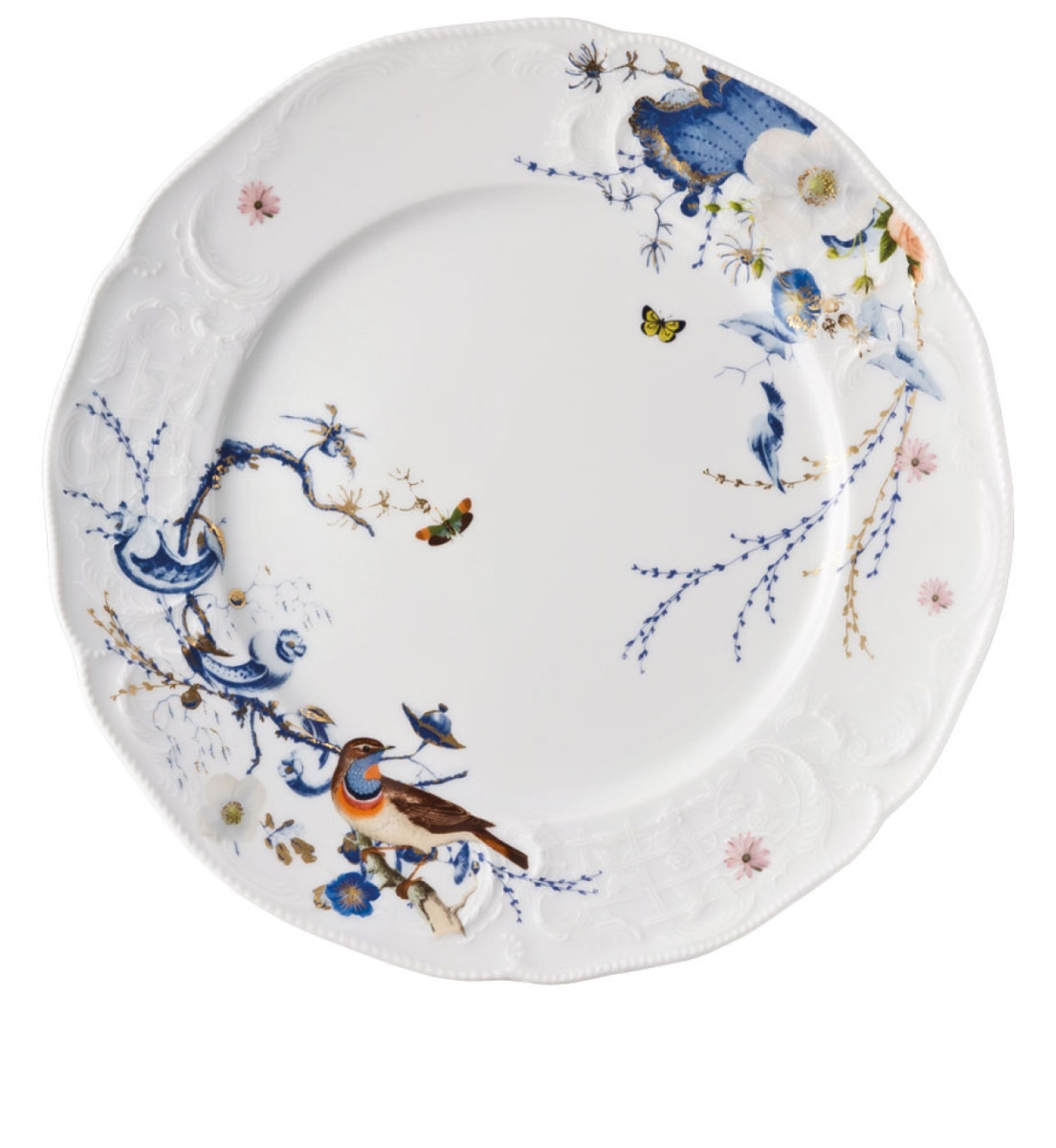 Service Weiß 6 X Service Plate In Porcelain Rosenthal