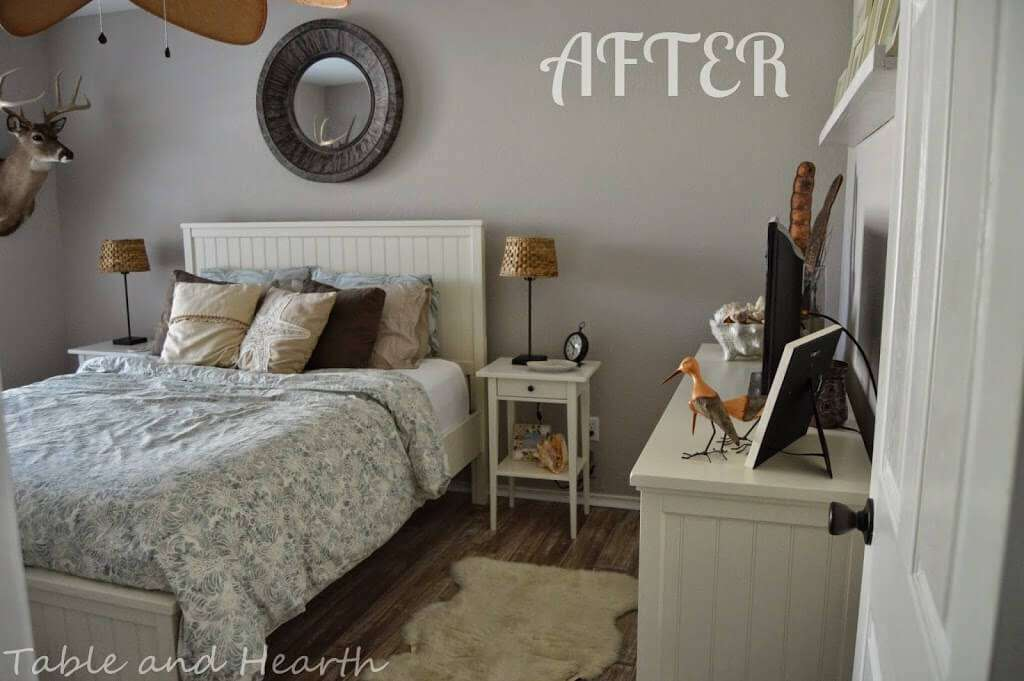 Sherwin Williams Alpaca Coastal Guest Bedroom (plus Some New Guys) | Table And Hearth