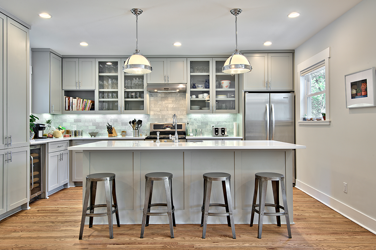 Bright Kitchen Cabinets 12 Gorgeous And Bright Light Gray Kitchens Table And Hearth