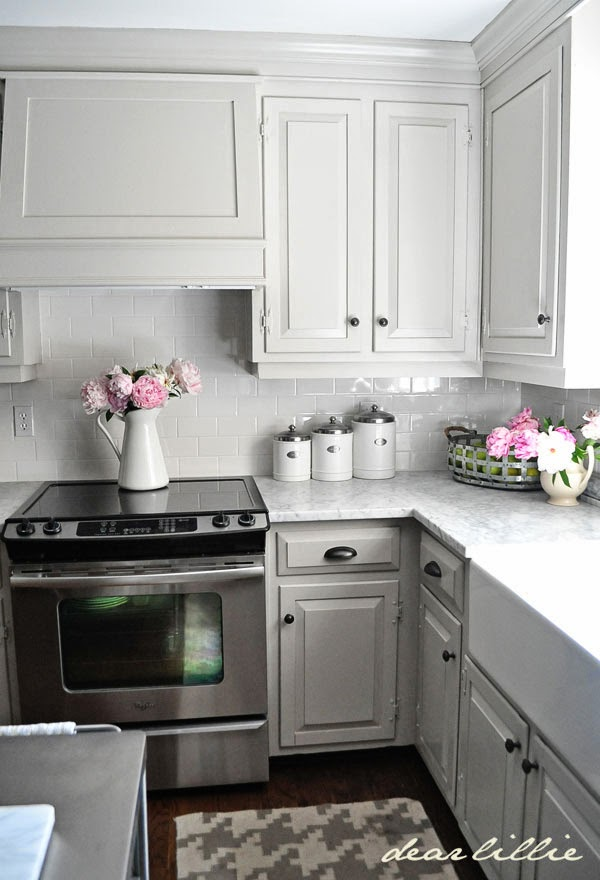 Pickled Cabinets 12 Gorgeous And Bright Light Gray Kitchens | Table And Hearth