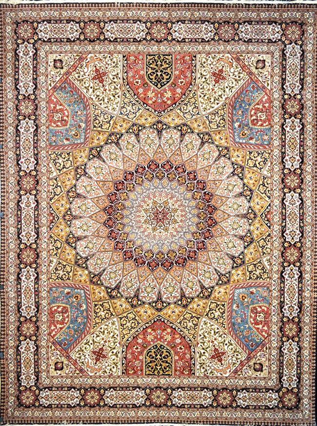 Bidjar Teppich Gonbad Royalty Silk Persian Rug - Item# 1