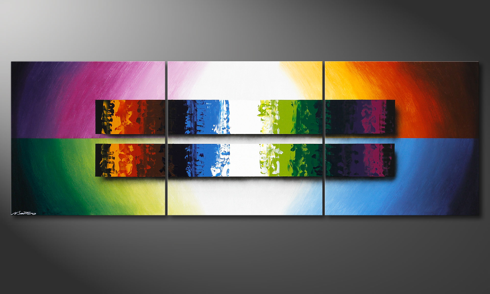 Tableau Design Salon Le Tableau De Salon Expression Of Colours 210x70cm