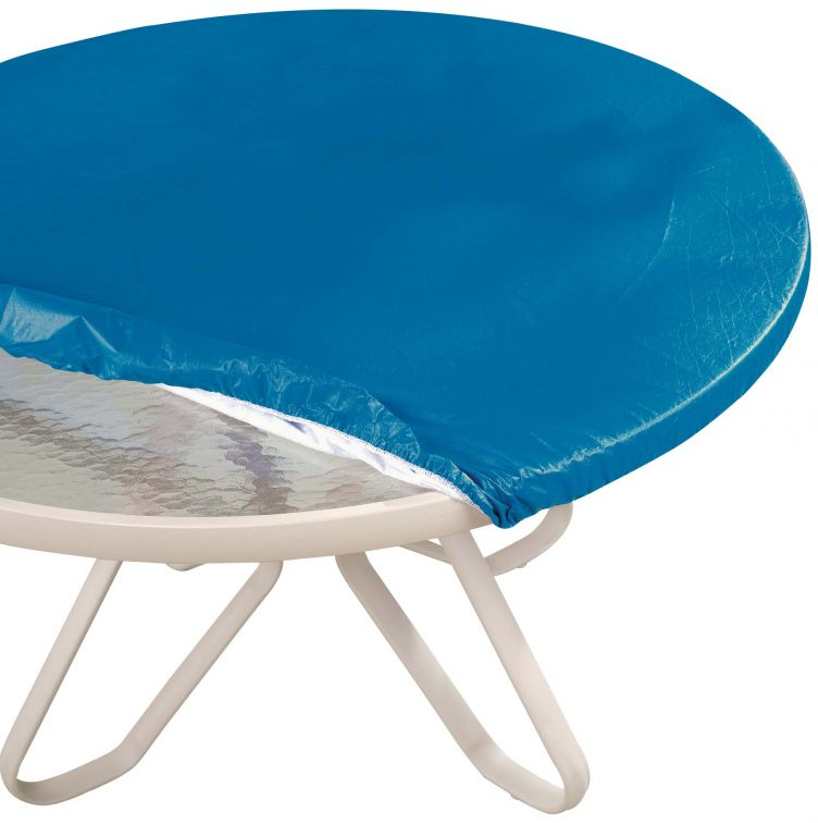 blue glass table top