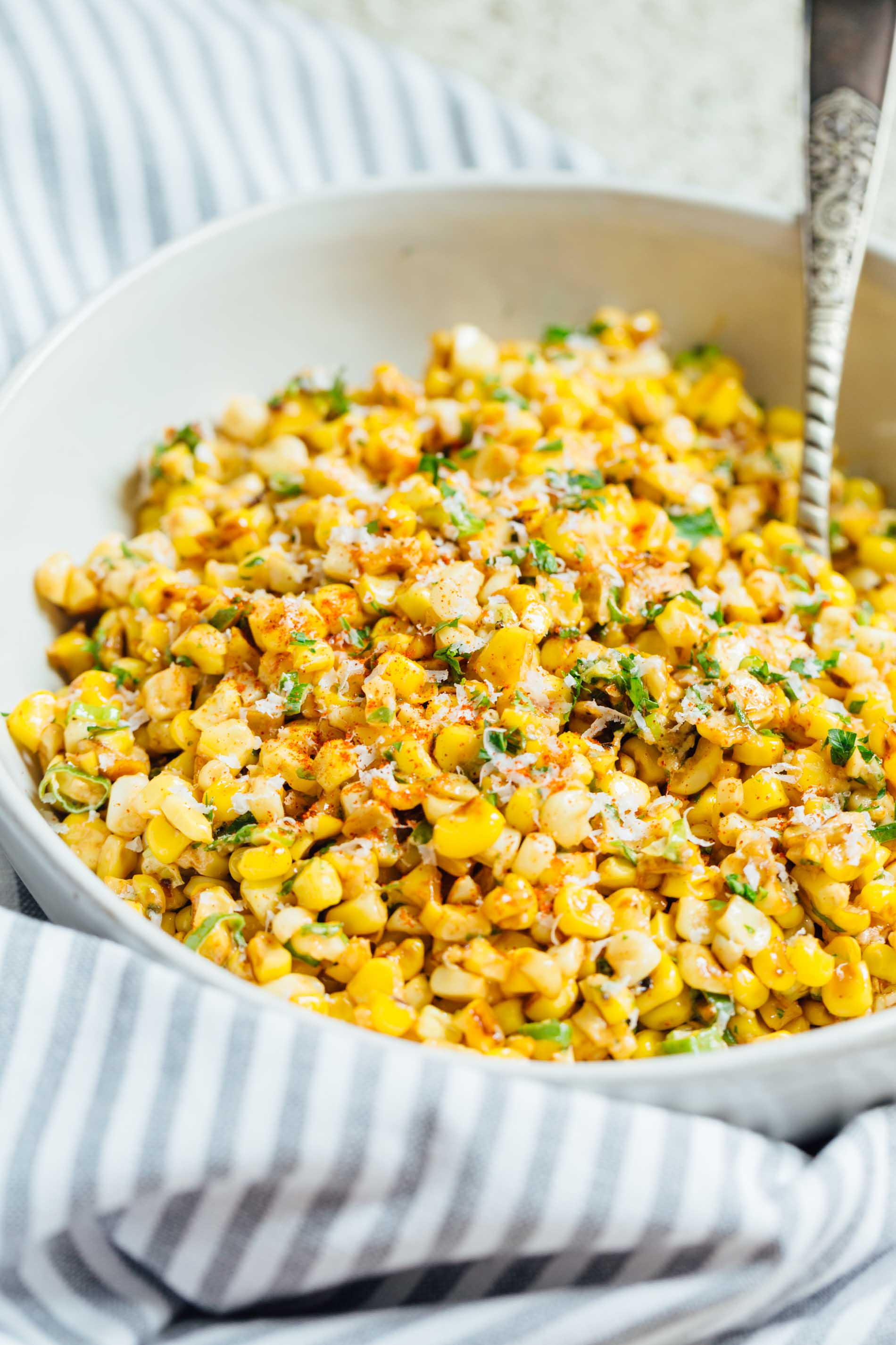 Classic Table Side Dishes Mexican Street Corn Off The Cob