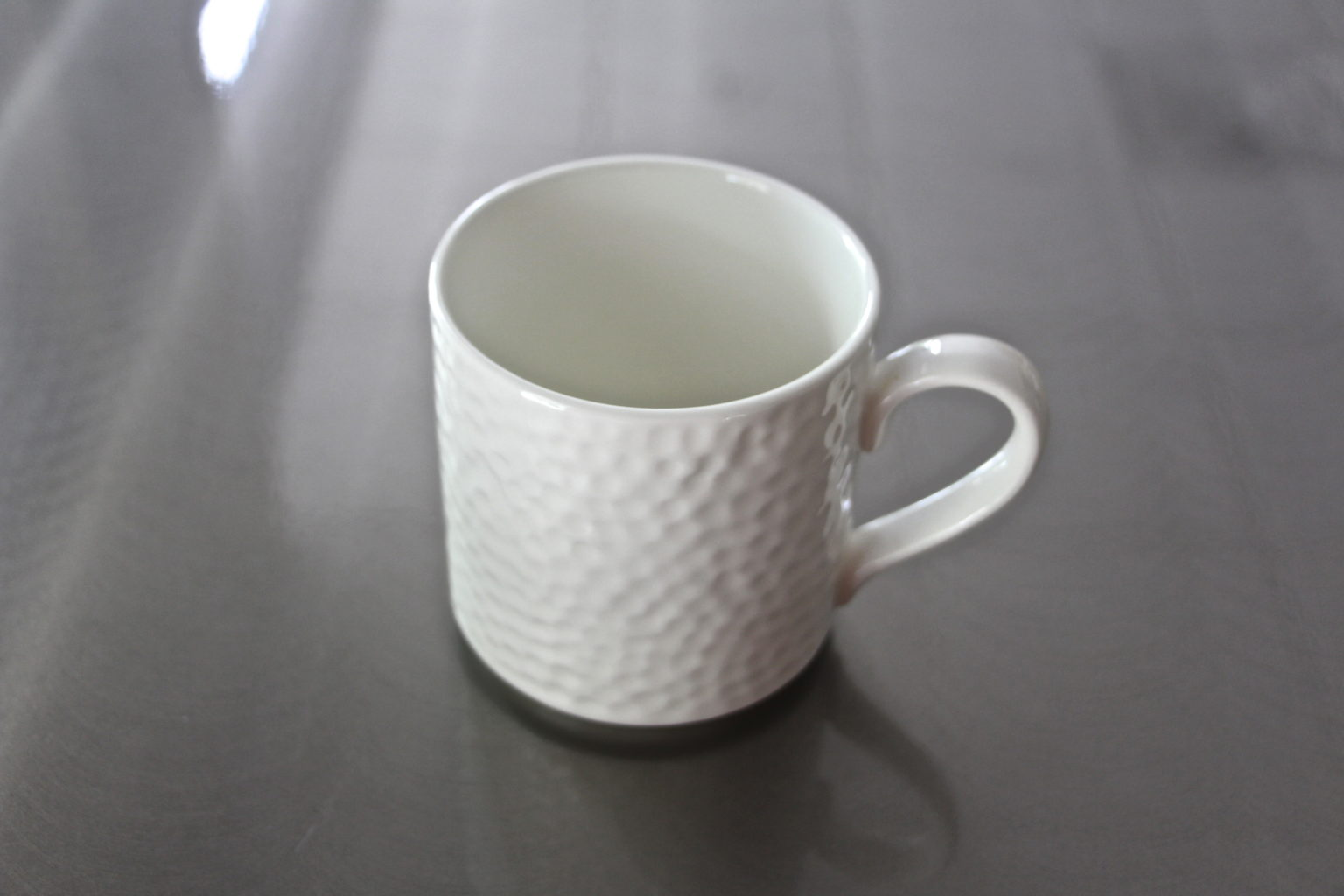 Glass Ware White Coffee Mug - Table Manners