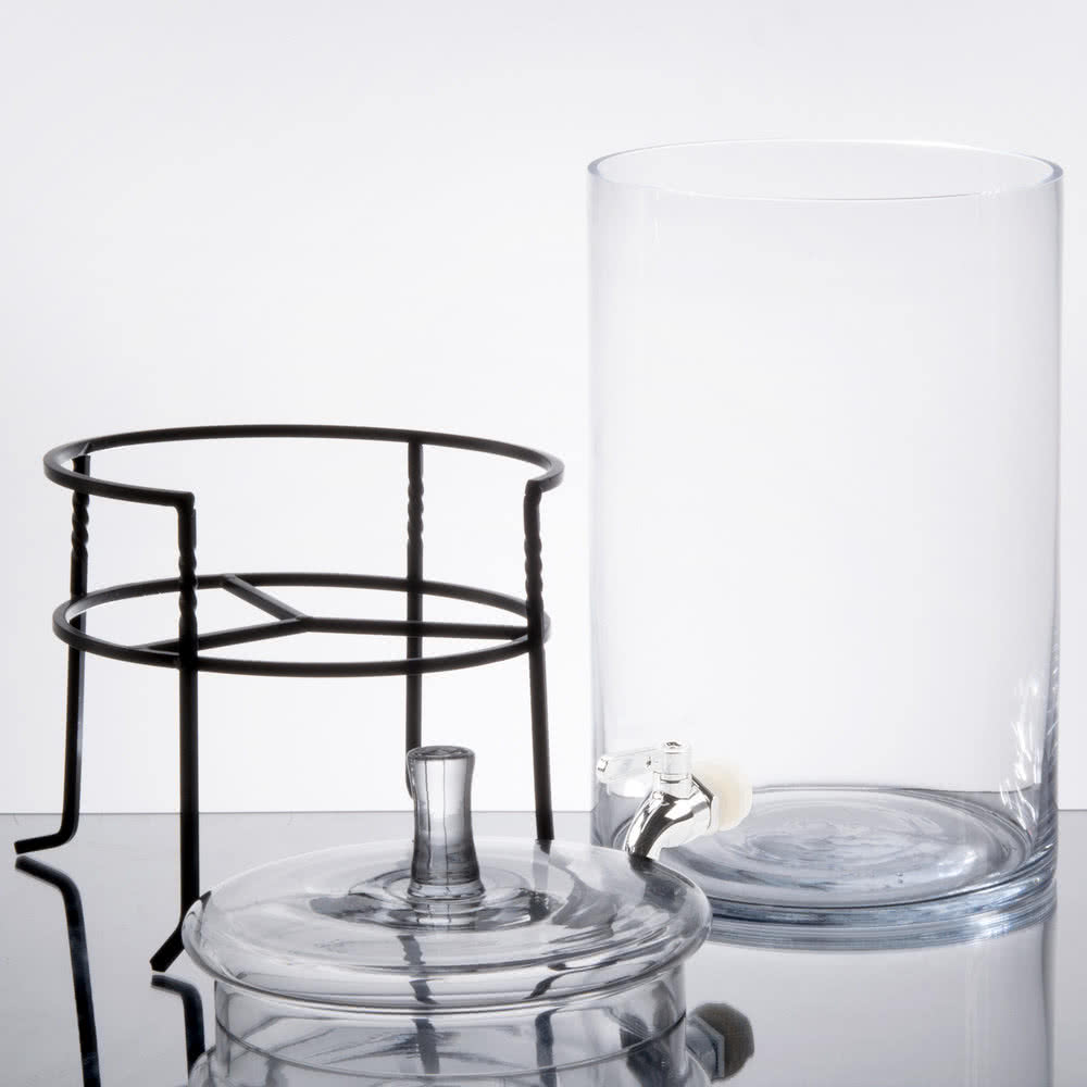 Table Linens Glass Beverage Dispenser - Table Manners