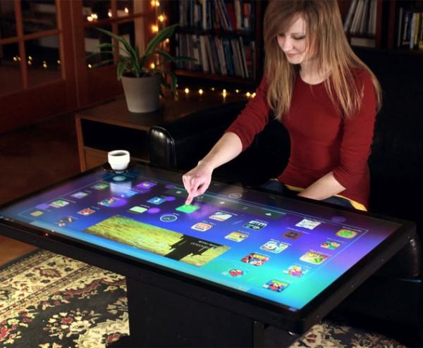 Couchtisch Mit Touchscreen Ideum Android Coffee Table Takes Large Screen Computing To