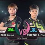 ZHU Yuling vs CHENG I-Ching Highlights 1 2 2017 Women's World Cup