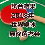 試合結果_世界卓球2018最終選考会