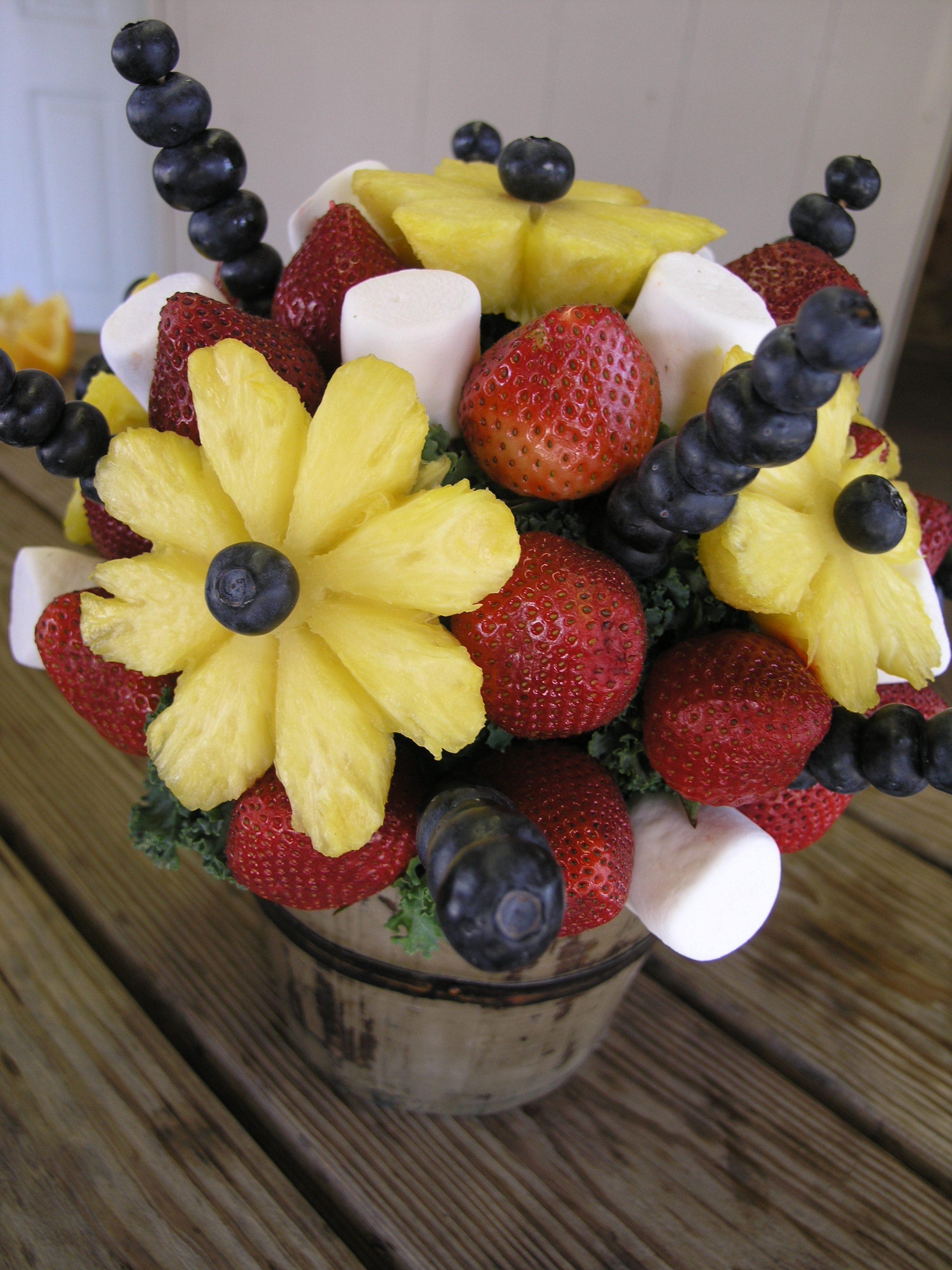 Designer Fruit Basket Live Food Creations Texas Farm Bureau Table Top