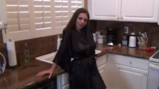 Mindi Mink – Mother teasing son in kitchen