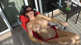 Angie Noir – My Son Save Me Nude Sunbathing and Got Hard!