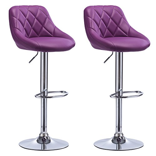 Set De 2 Tabourets De Bar Woltu #972 Tabouret De Bar Lot De 2 En Cuir Synthétique,2
