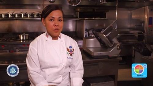 Cô cũng luôn chú trọng đến chế độ ăn uống cho người Mỹ để đảm bảo bữa ăn cân bằng và lành mạnh.