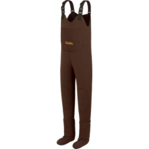 Cabela's Men's 3mm Lightweight Stockingfoot Waders Stout - Brown (MEDIUM)
