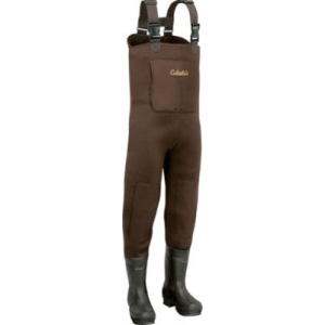Cabela's Men's 5mm Neostretch Neoprene Chest Waders Regular - Brown (8)