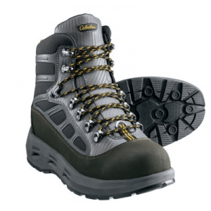 Cabela's Guidewear Men's Wading Boots with Vibram Lug Soles - Black/Silver (13)