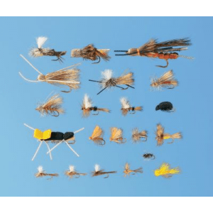 Cabela's 66-Piece Western Dry Fly Assortment - Olive