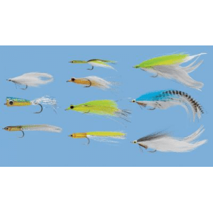 Umpqua 10-Piece Striper Bluefish Fly Assortment - Green