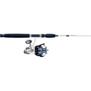 Cabela's Salt Striker SBR-65 Baitfeeder/King Kat Spinning Combo - Stainless Steel