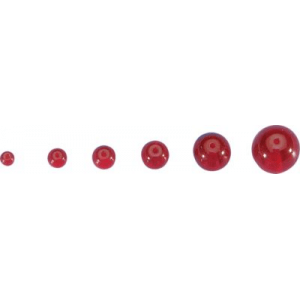 Cabela's Round Glass Beads - Per 250 - Ruby Red (4 MM)